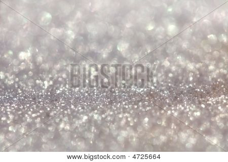 Silver Pearly Glitter Sparkles Background With Focus Line
