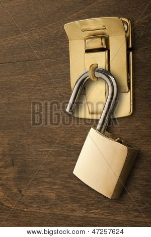 Lock - Unlocked on a Latch