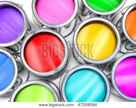 Color paint buckets