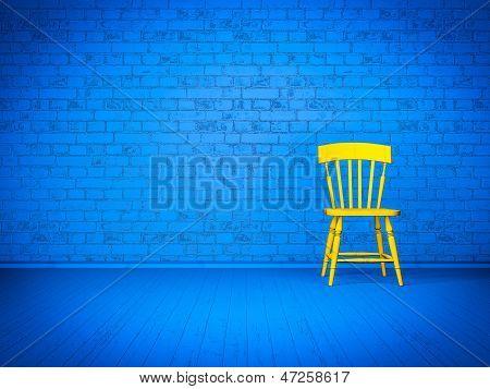 Simple blue interior