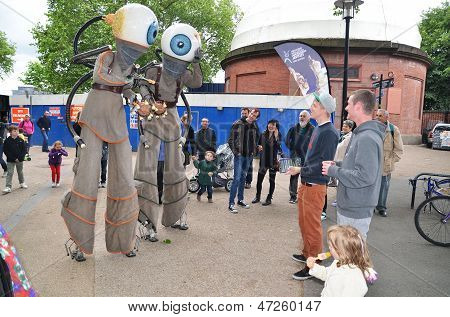 The Orbilys At The Greenwich And Docklands International Festival In Londons Greenwich 23Rd June 201