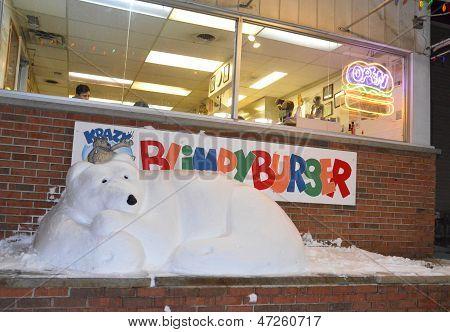 Blimpy Burger Snow Bear