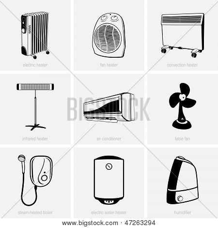 Heating and air conditioning devices