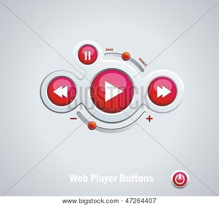 Buttons Switchers Player Audio