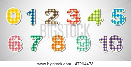 Illustration of the checkered numerical figures on a white background