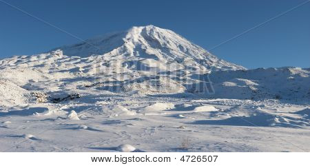Panoramic Image Of Mount Ararat In Winter