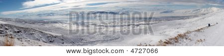 Winter Panoramic Image From Mount Ararat Descent