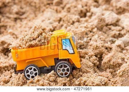 Dump Truck Fully Loaded Sand