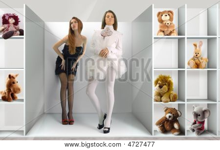 Shelf And Dolls