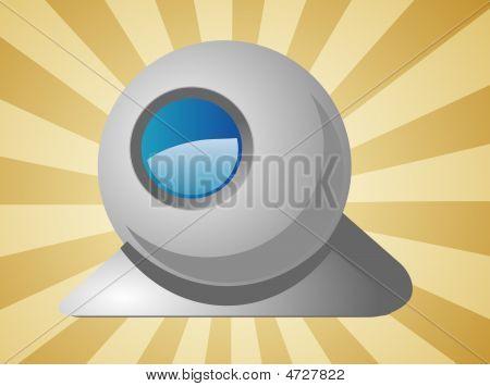 Computer Webcam Illustration