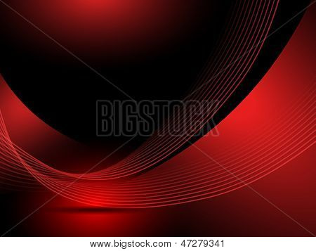 Abstract red background lines