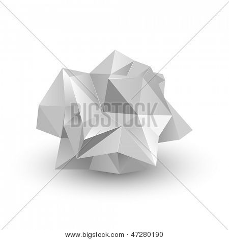 crumpled paper, vector illustration