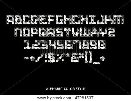 Original alphabet steel style, Vector illustration, easy editable