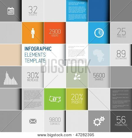 Cuadros abstractos de vector de fondo ilustración / infografía plantilla con lugar para su contenido