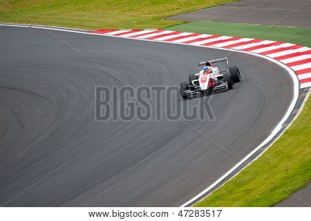 MOSCOW - JUNE 23: Alex Baron of Art Junior Team (FRA) race at Formula Renault 2.0 race at World Series by Renault in Moscow Raceway on June 23, 2013 in Moscow