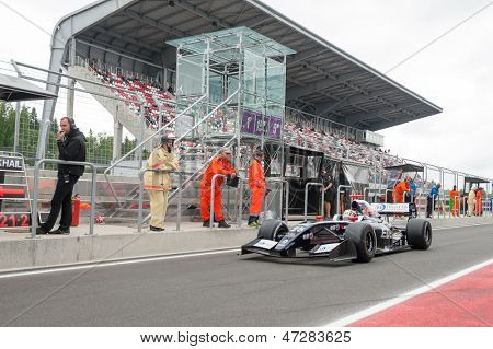 MOSCOW - JUNE 23: Zoel Amberg of Pons R Team (ESP) ready for start at World Series by Renault in Moscow Raceway on June 23, 2013 in Moscow