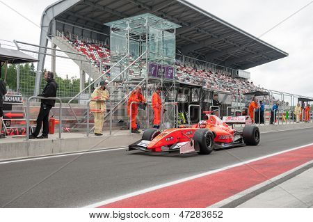 MOSCOW - JUNE 23: Yann Cunha of AV Formula team (ESP) ready for start at World Series by Renault in Moscow Raceway on June 23, 2013 in Moscow