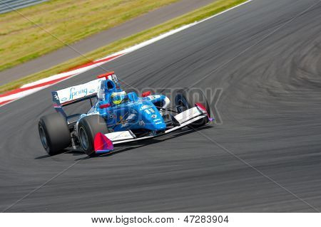 MOSCOW - JUNE 23: Carlos Huertas of Carlin team (GBR) race at Formula Renault 3.5 race at World Series by Renault in Moscow Raceway on June 23, 2013 in Moscow