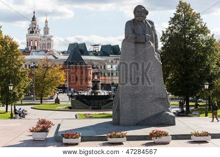 MOSCOW - SEP 17: The monument to Karl Marx at Theater Square on September 17, 2012 in Moscow, Russia. The grand opening of the monument took place October 29, 1961