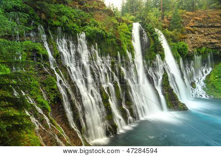Burney Falls Waterfall In California Near Redding