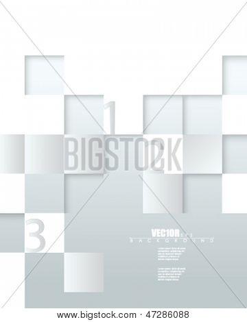 eps10 vector embossed metallic blocks infographic design
