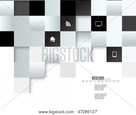 eps10 vector embossed metallic blocks design