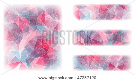 Abstract geometric background with triangular polygons.
