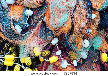 fishing nets as a background