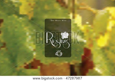 Vine style badge on mesh background. Editable vector format.