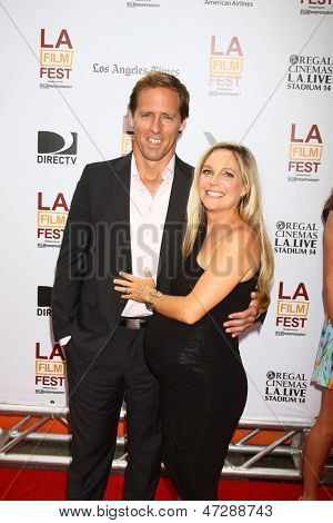 "LOS ANGELES - JUN 23:  Nat Faxon, Meghan Gadd arrives at  ""The Way Way Back"" Premiere as part of the Los Angeles Film Festival at the Regal Cinemas on June 23, 2013 in Los Angeles, CA"