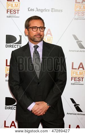 "LOS ANGELES - JUN 23:  Steve Carell arrives at  ""The Way Way Back"" Premiere as part of the Los Angeles Film Festival at the Regal Cinemas on June 23, 2013 in Los Angeles, CA"