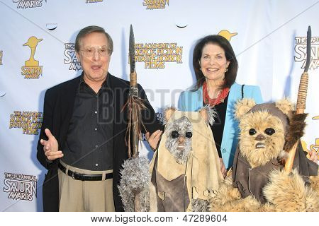 BURBANK - JUN 26: William Friedkin, Sherry Lansing at the 39th Annual Saturn Awards held at Castaways on June 26, 2013 in Burbank, California