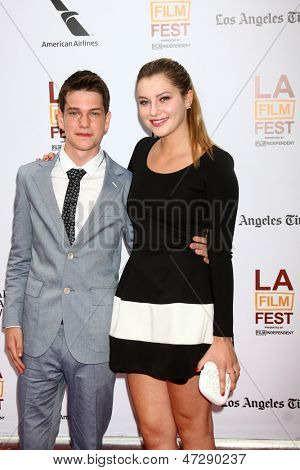 "LOS ANGELES - JUN 23:  Liam James, Zoe Levin arrives at  ""The Way Way Back"" Premiere as part of the Los Angeles Film Festival at the Regal Cinemas on June 23, 2013 in Los Angeles, CA"