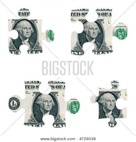 Dollar Puzzle Pieces