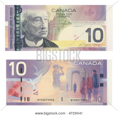 10 Canadian Dollars