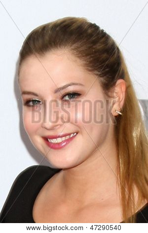 """LOS ANGELES - JUN 23:  Zoe Levin arrives at  """"The Way Way Back"""" Premiere as part of the Los Angeles Film Festival at the Regal Cinemas on June 23, 2013 in Los Angeles, CA"""
