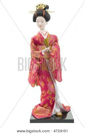 Japanese Doll With Clipping Path