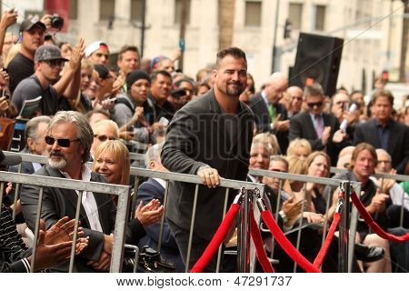 LOS ANGELES - JUN 24:  George Eads at  the Jerry Bruckheimer Star on the Hollywood Walk of Fame  at the El Capitan Theater on June 24, 2013 in Los Angeles, CA