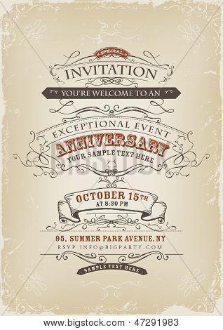 Vintage Invitation Poster