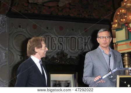 LOS ANGELES - 24 de JUN: Jerry Bruckheimer, Bob Iger em Jerry Bruckheimer Star no W Hollywood