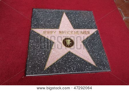 LOS ANGELES - JUN 24:  Jerry Bruckheimer WOF Star at  the Jerry Bruckheimer Star on the Hollywood Walk of Fame  at the El Capitan Theater on June 24, 2013 in Los Angeles, CA