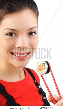 Mulher sushi