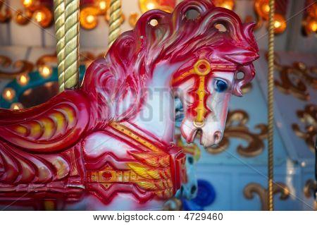 Red Carousal Horse