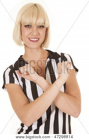 Woman Blond Ref Arms Crossed Smile