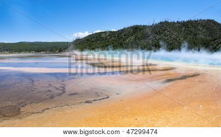 Grand Prismatic And Midway Geyser Basin