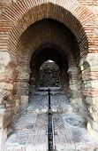 Gate In The Alcazaba Of Malaga, Spain