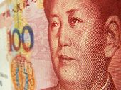 foto of zedong  - Closeup of a Chinese currency 100 Yuan bank note