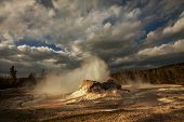 Castle geyser in Yellowstone NP,USA