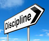 image of discipline  - Illustration depicting a sign with a discipline concept - JPG