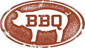 Barbecue Pork BBQ Menu Design Stamp